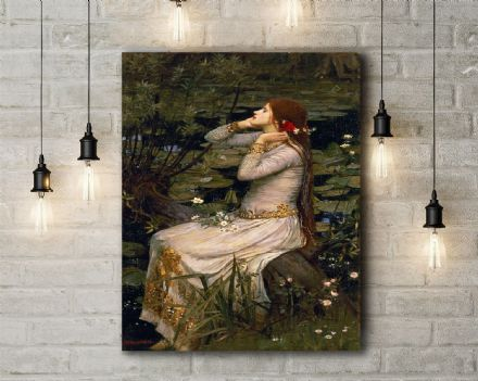 John William Waterhouse: Ophelia. Fine Art Canvas. (2)